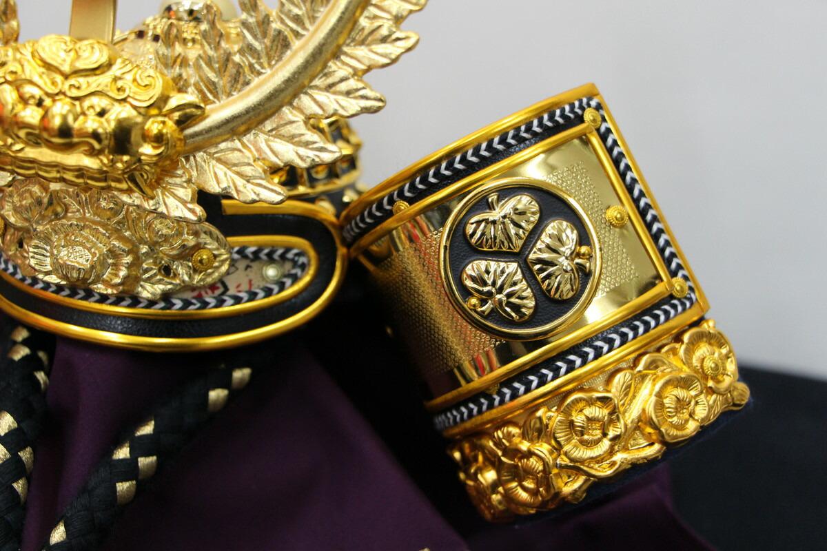 10号徳川家康兜10361黒収納黒屏風セットこどもの日五月人形収納飾りコンパクト