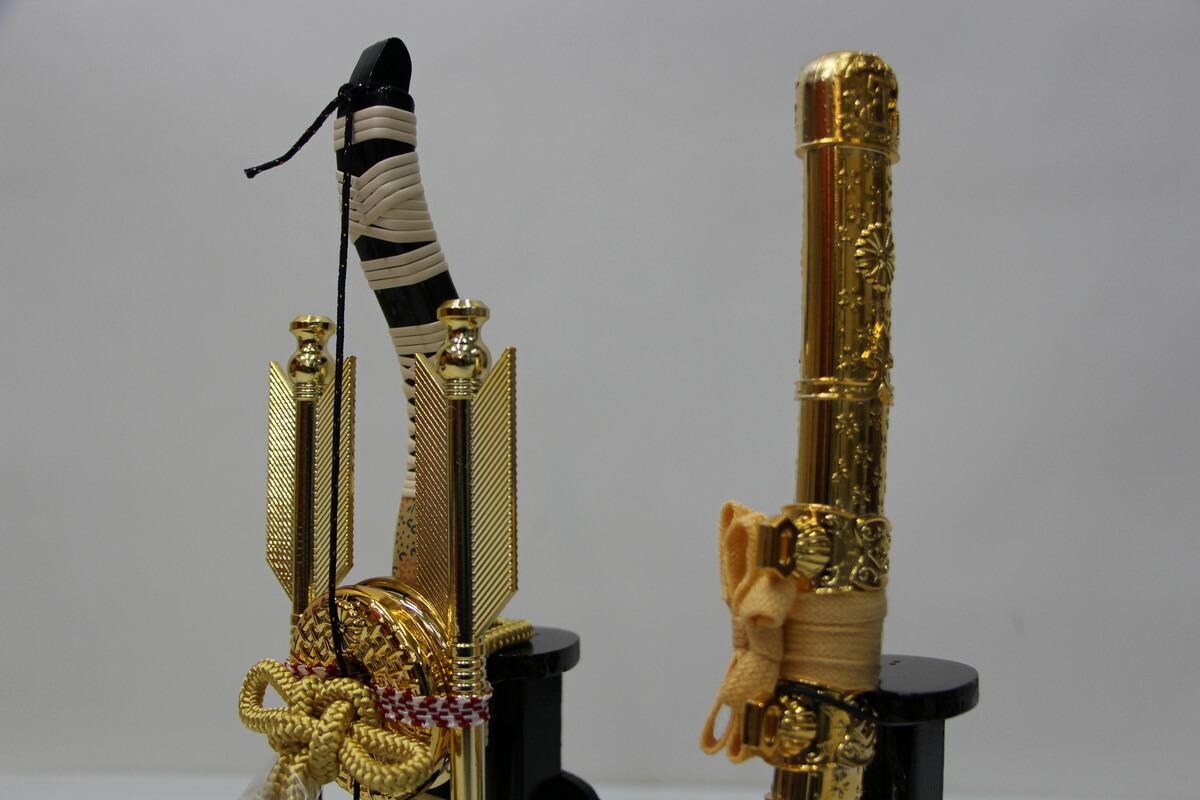 15号立体大鍬兜15409焦茶収納金屏風セットこどもの日五月人形収納飾りコンパクト