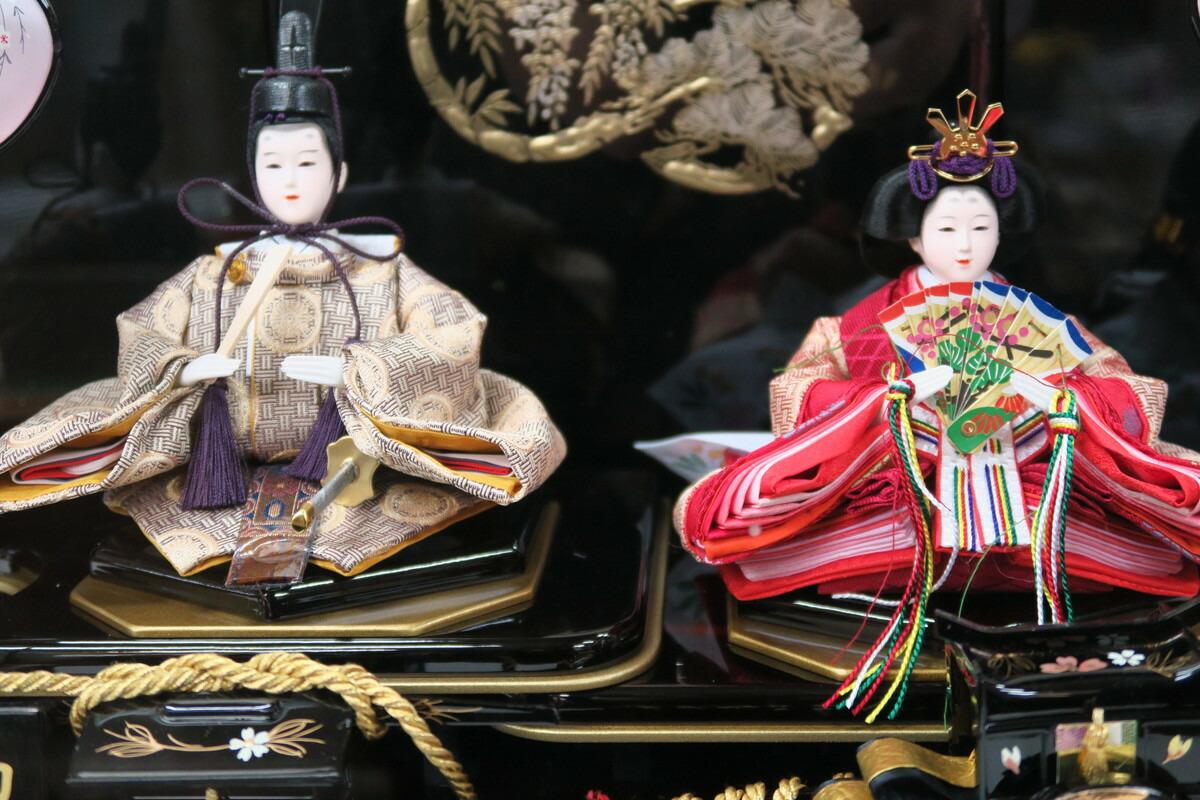 柳2人弥生ガラスケースNO.30-247【親王ケース飾り】親王飾りガラスケース