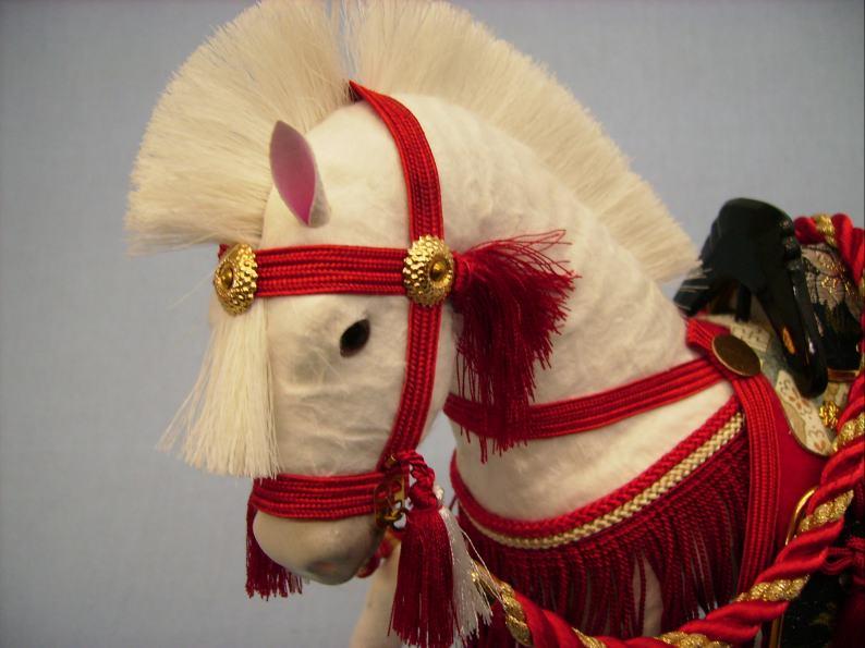 8号奉書飾り馬真紅色ケース入り