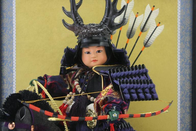 本多忠勝公馬乗り大将ケース脇飾りケース馬乗り武者人形