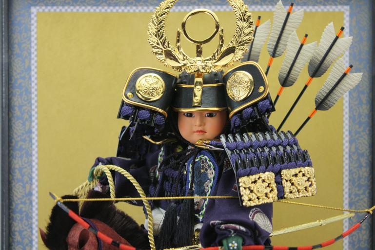 徳川家康公馬乗り大将ケース脇飾りケース馬乗り武者人形