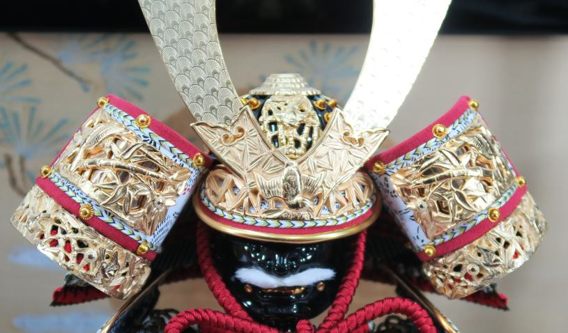 五月人形平飾り忠保作春日大社国宝模写7号竹虎之大鎧セット