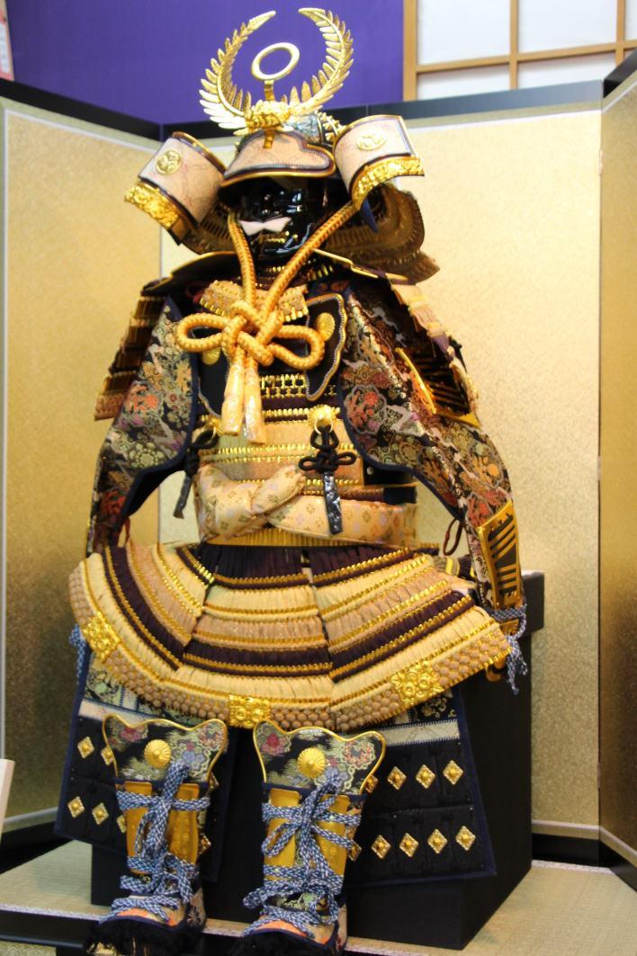 100徳川家康着用30号鎧金屏風弓太刀セット【五月人形子供着用鎧飾り】