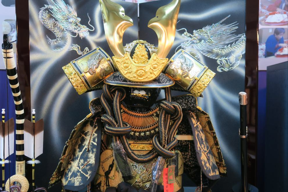 平安翠雲作王者彫金着用鎧飾り