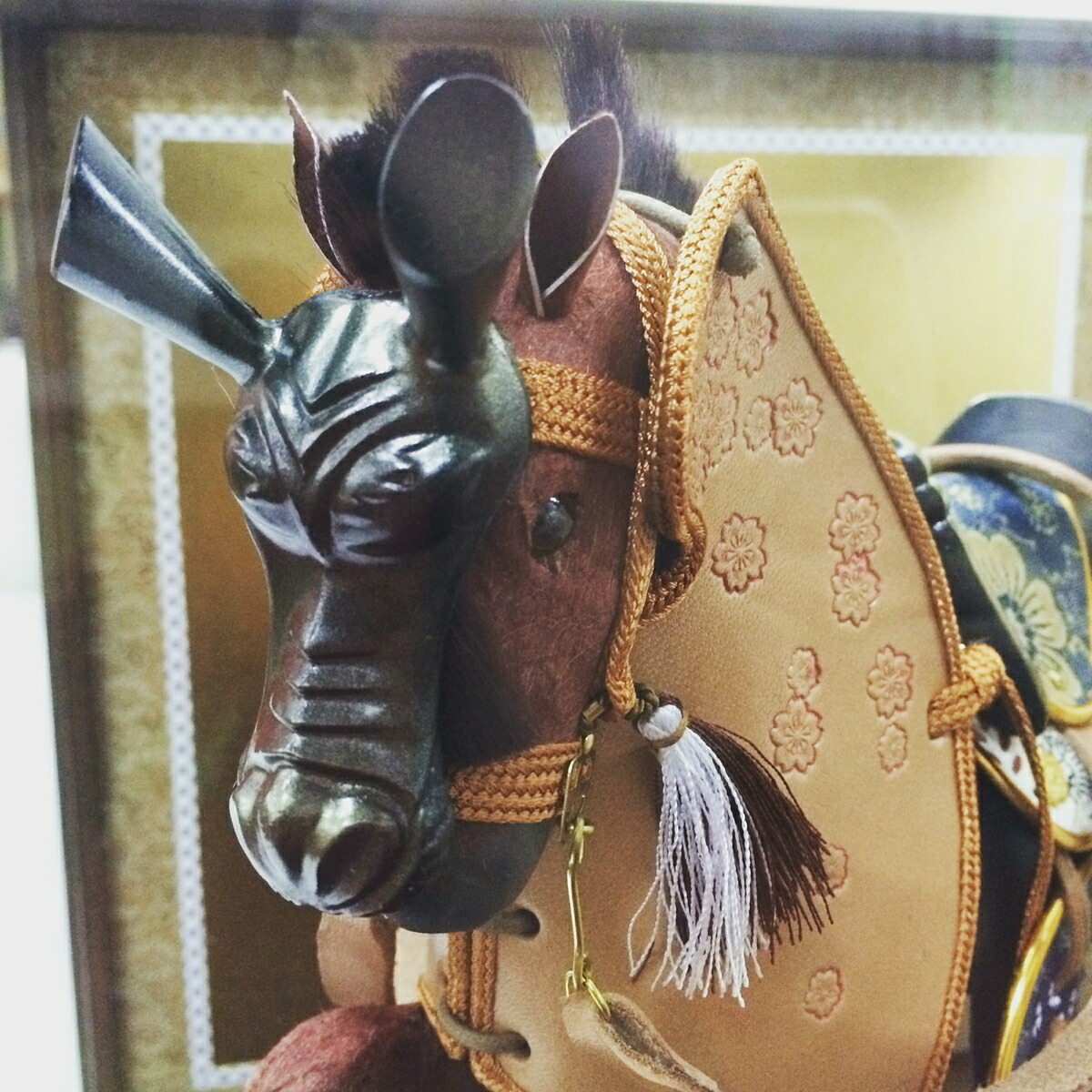 馬勘8号奉書幸運の馬(ガラスケース入り)