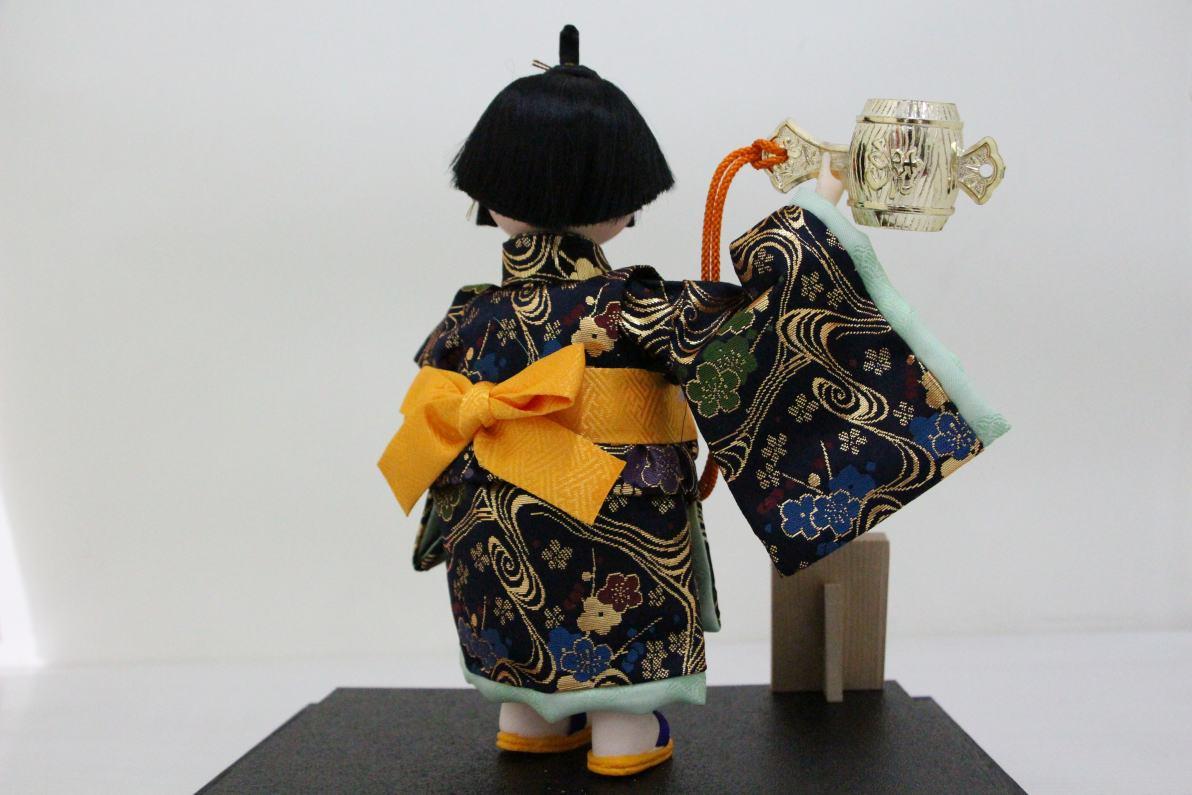 5号わらべ人形こずち木製ケース