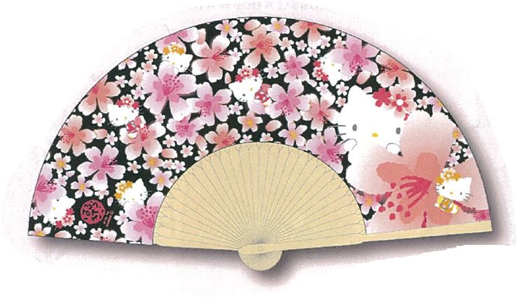 ハローキティ扇子桜ブラック
