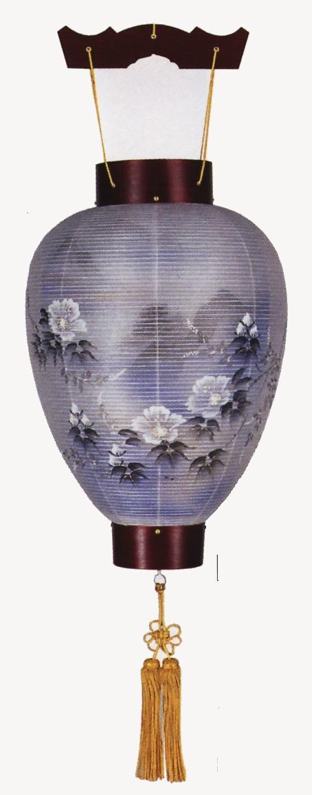 銘木桜【吊り提灯】【ローソク電池灯付】