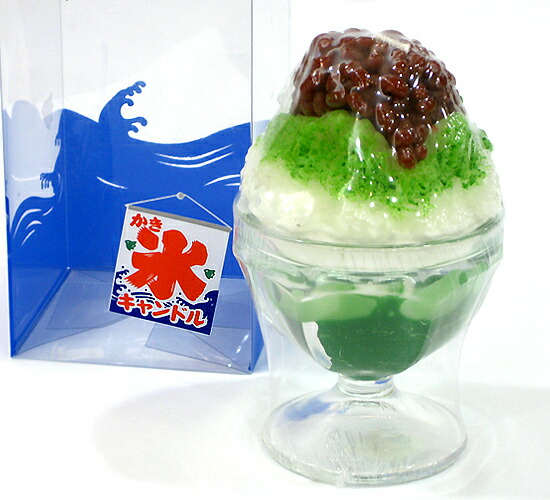 かき氷キャンドル(宇治金時)カメヤマローソク【故人の好物シリーズ】