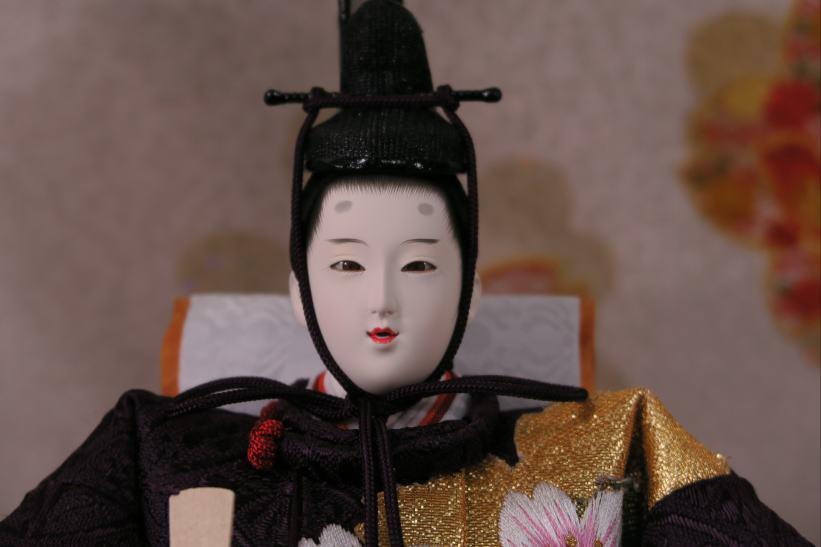 京都横段刺繍優雅桜尽くし衣裳親王五人43a52雛人形収納飾り