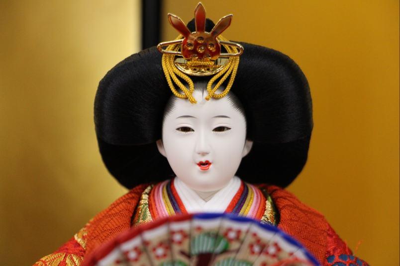 歓喜雛正絹西陣織衣裳五人三段飾り42a33