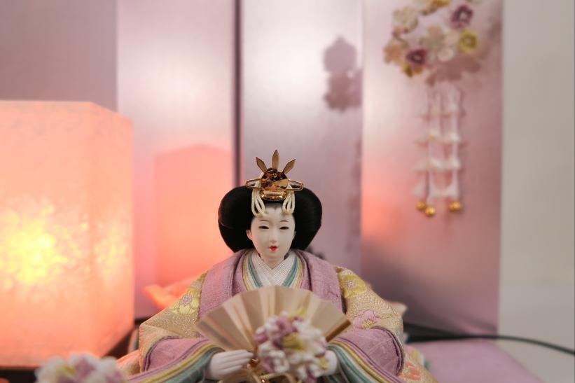 アート&デザイン後藤由香子作花かんざし創作雛人形平飾り【雛人形親王飾り】