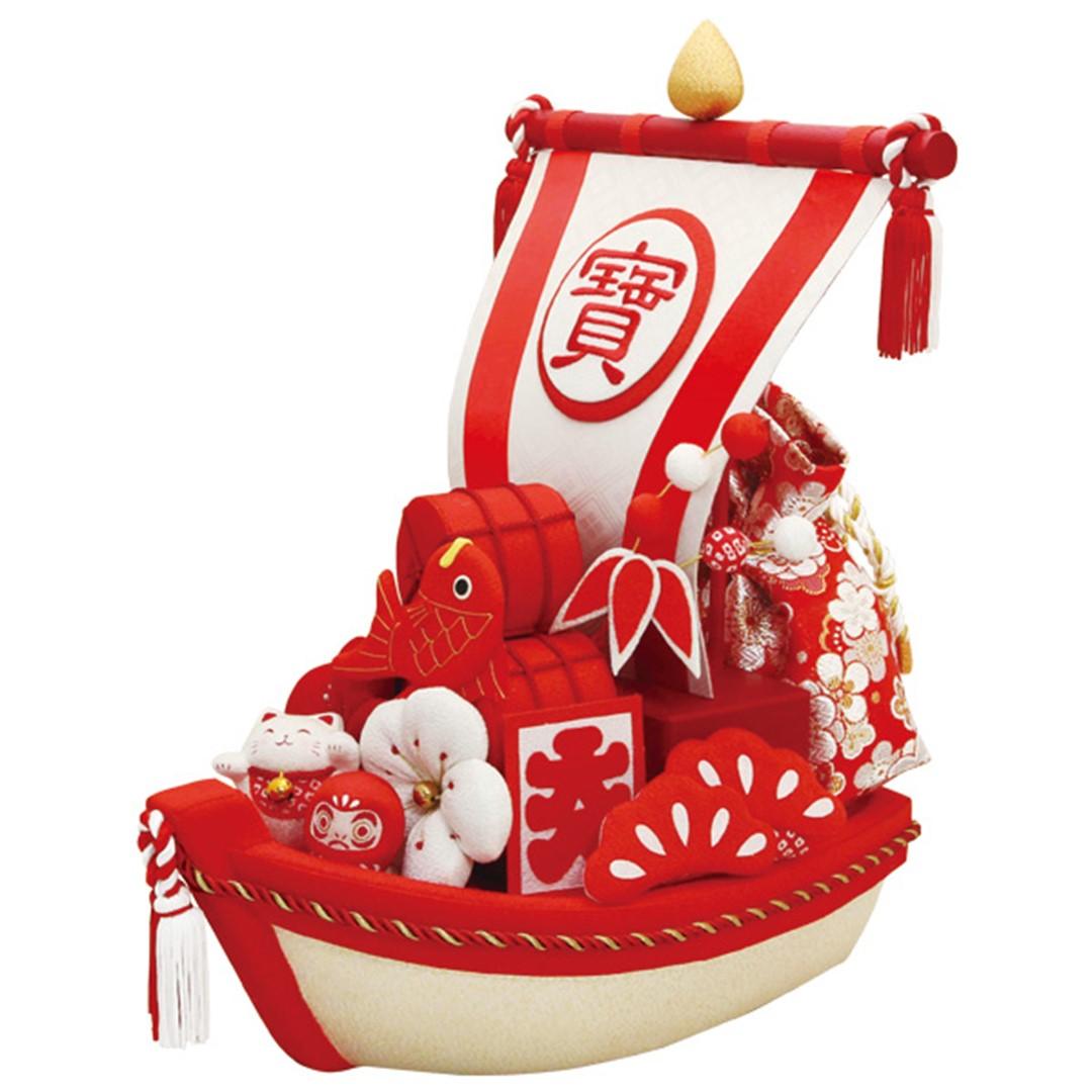 招福宝船 紅白縁起飾り