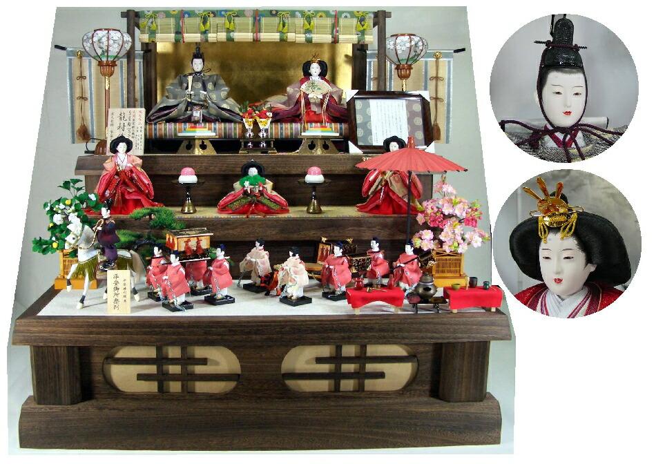 120平安天鳳平安御所雛15人(焼き桐3段飾り)完売しましたありがとうございました。