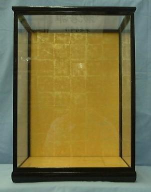 黒桑8ガラスケース(黒塗り木目前戸)