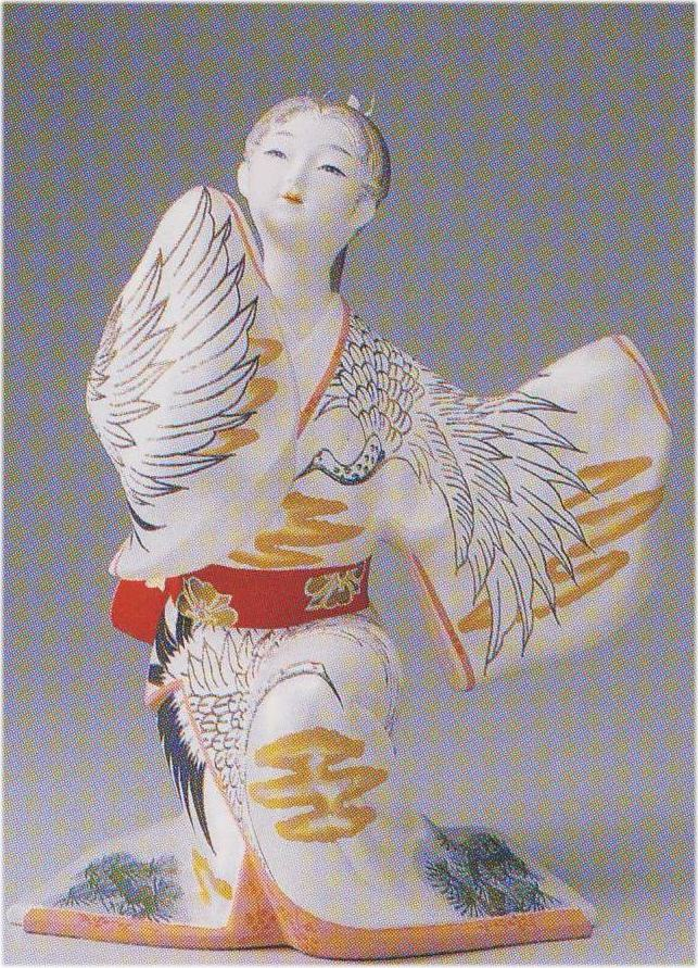 鶴の寿【博多人形】