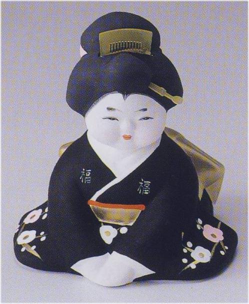 お福さん(ミニ)【博多人形】