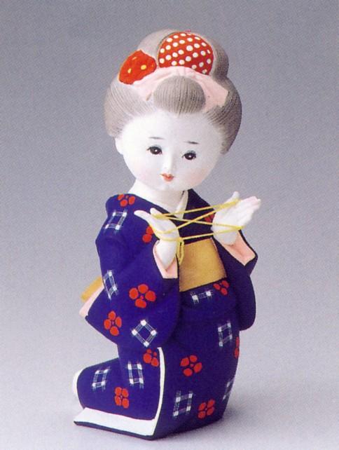 少女あやとり【博多人形】