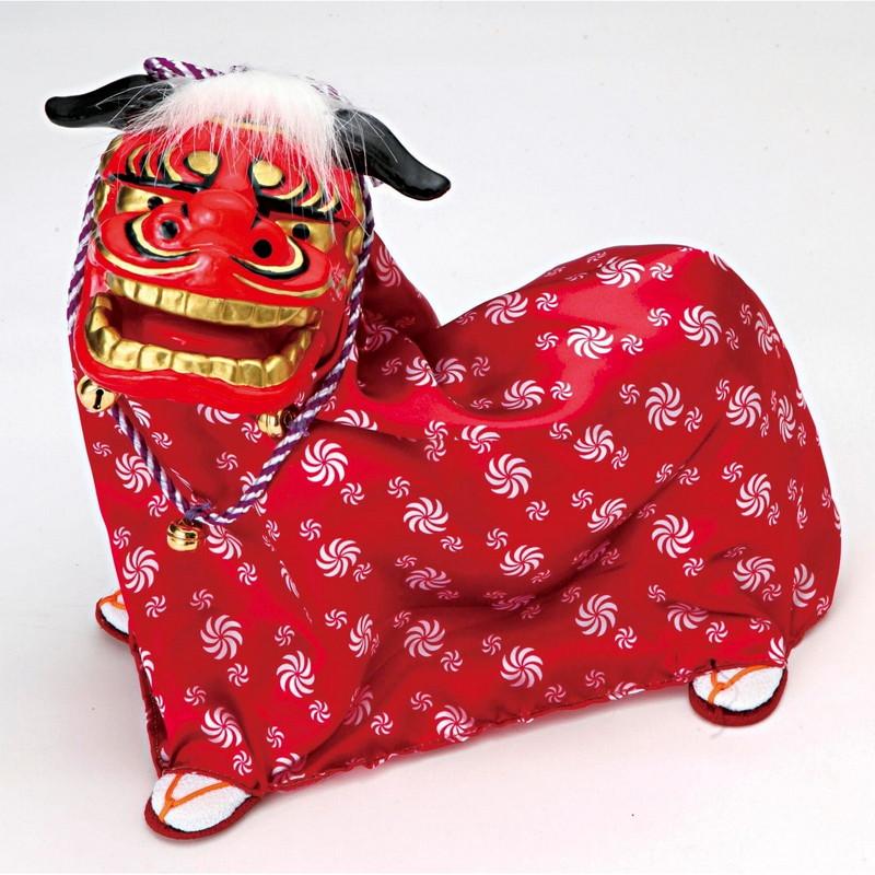 踊る獅子舞P-1605-Mグリーン、ゴールド、をお選びくださいお正月飾り日本のお土産品