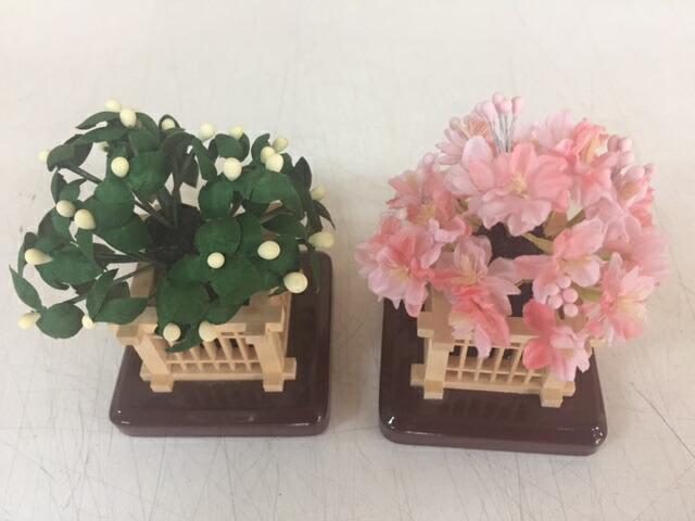 木製桜橘丸花特号雛飾り付属桜橘訳あり特価