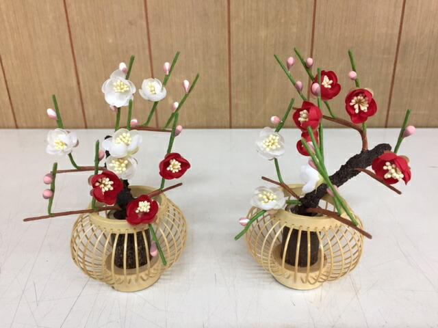 紅白梅No.1601雛飾り付属桜橘訳あり特価