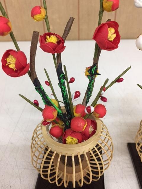 紅白梅桜橘竹篭立梅雛飾り付属桜橘訳あり特価
