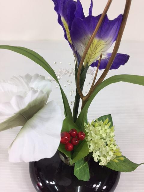 フラワーオブジェ860-12Aあやめ・あじさい五月飾り端午の節句付属品訳あり特価