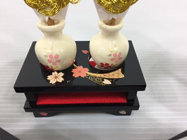 木製30号3点セット雛道具3点セット桜衣雛飾り付属御道具訳あり特価