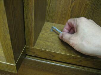 スライド本棚 スライドボックス傾き調整