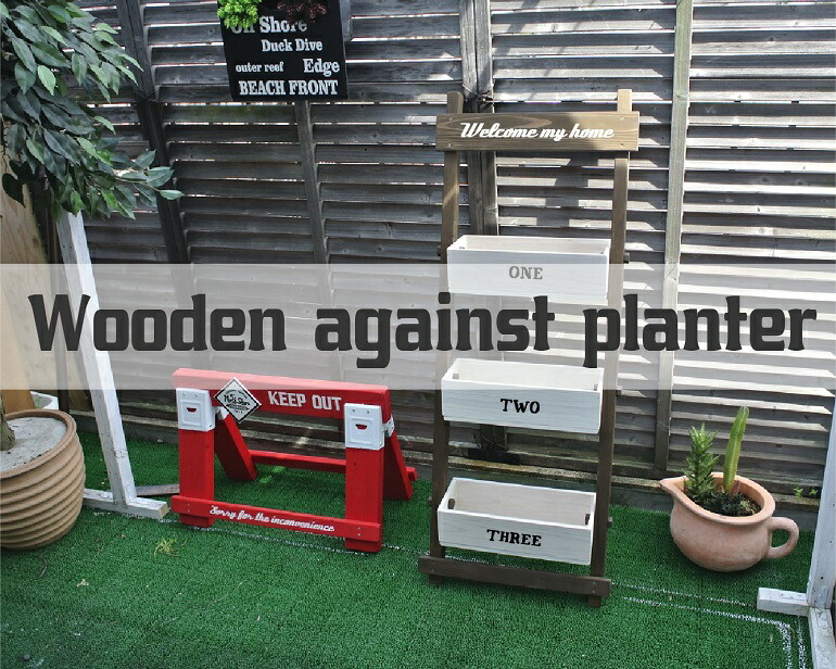 wooden-against-planter