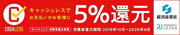 対象のクレジットカード決済で楽天市場でのお買い物が5%還元