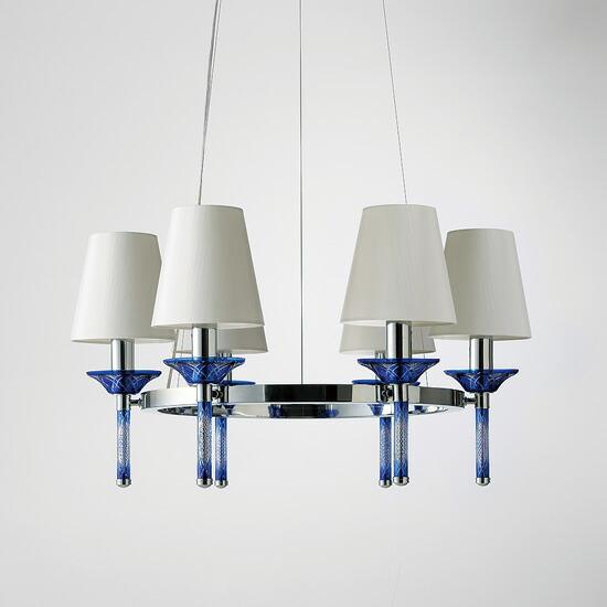 LED切子ガラス照明青