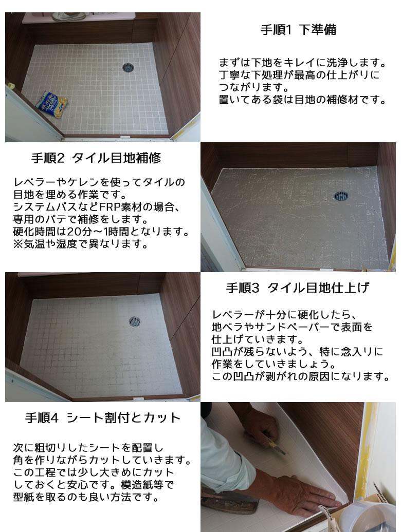 シートの施工方法