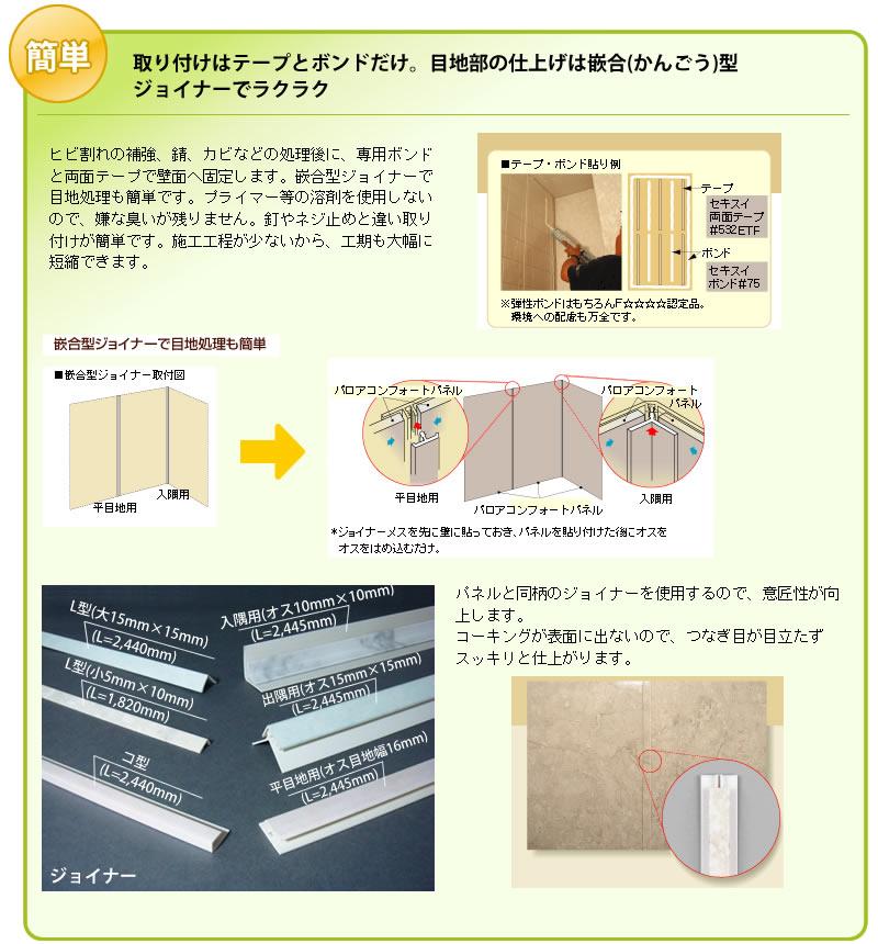 パネル施工の方法
