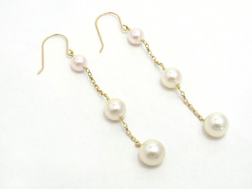 華やかで上品なブルー系のアコヤ真珠