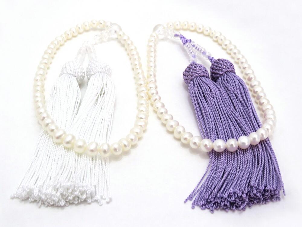 お手持ちのネックレスやイヤリング、ピアスと  合わせて念珠を使用できます