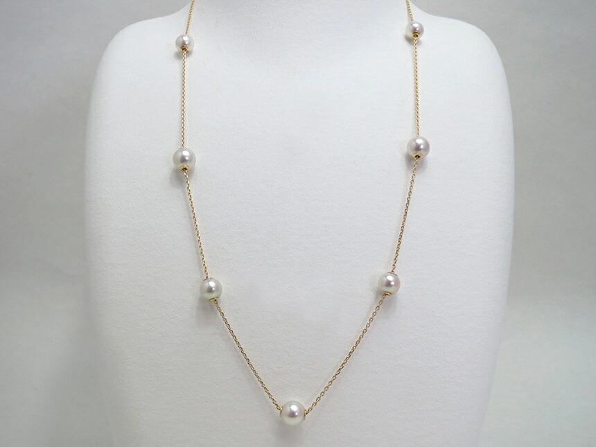 アコヤ真珠 スライドネックレス