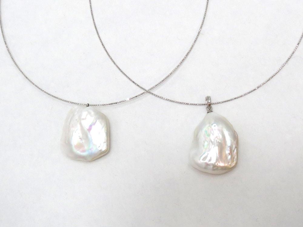 8.5mmの存在感のあるアコヤ真珠を際立たせるようにグラデーションで仕上げました