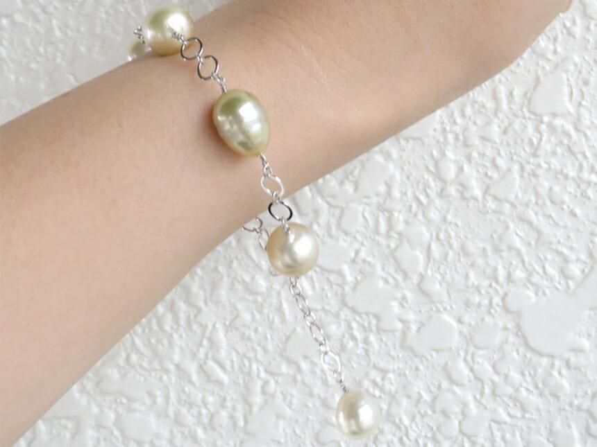 白蝶真珠ブレスレット