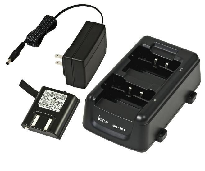ICOM(アイコム)10人分バッテリーチャージャーセット
