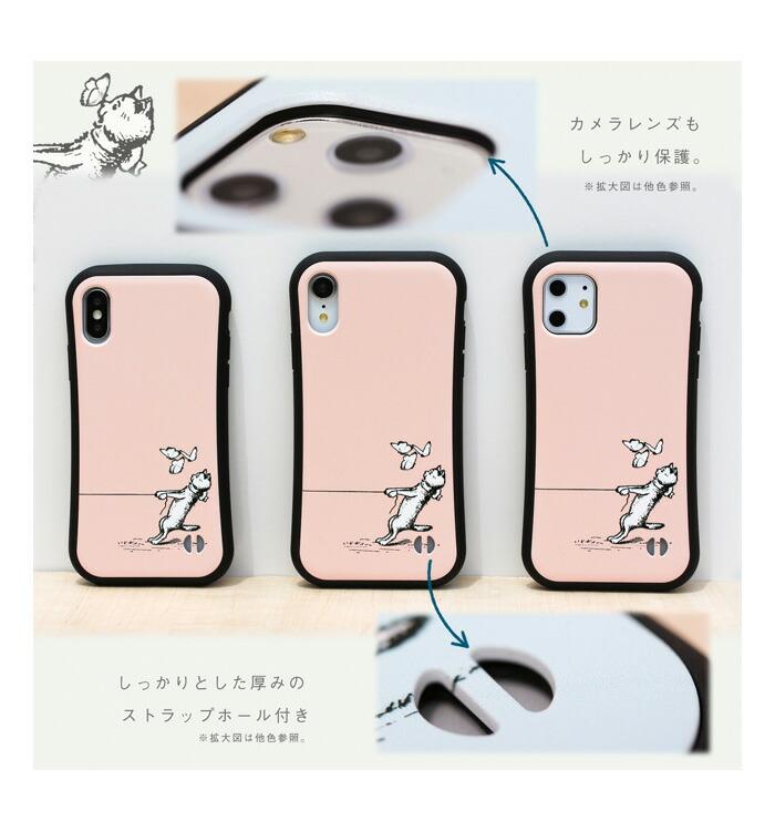iface_楽天iPhoneケース_猫と蝶_pink_詳細