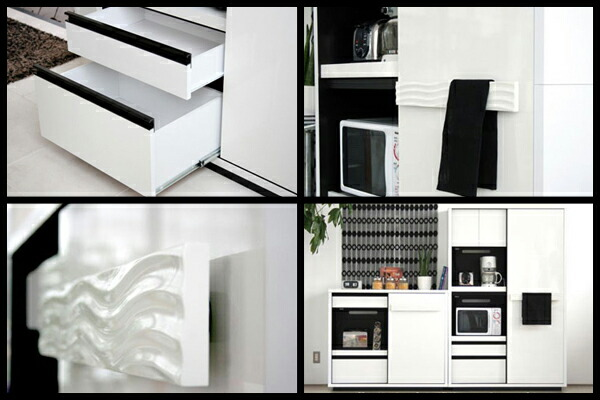 家電収納食器棚 120 キッチンレンジボード