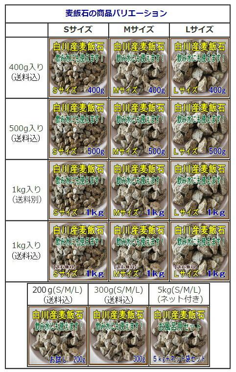 麦飯石の商品バリエーション