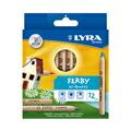 リラ ファルビー 軸白木12色セット 色鉛筆