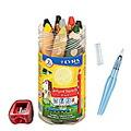 リラ グルーヴトリプルワン 8色セット *シャープナー付き クレヨン 色鉛筆 水彩画用の色鉛筆