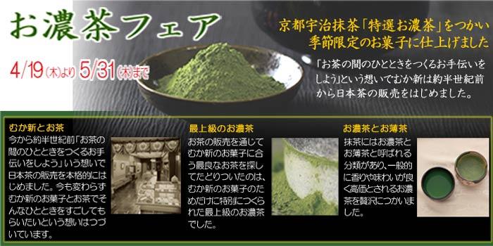 【お濃茶フェア4/19〜5/31】