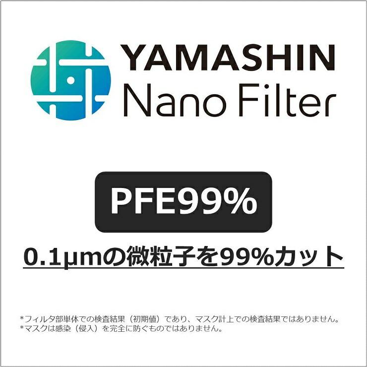 0.1μmの微粒子も99%カット*1する<br> 「ヤマシンナノフィルタ」採用