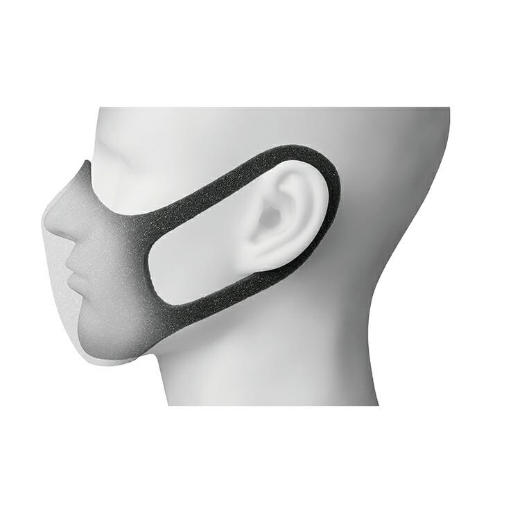 独自の『シームレス&3D立体成型』によるゆったり口元空間