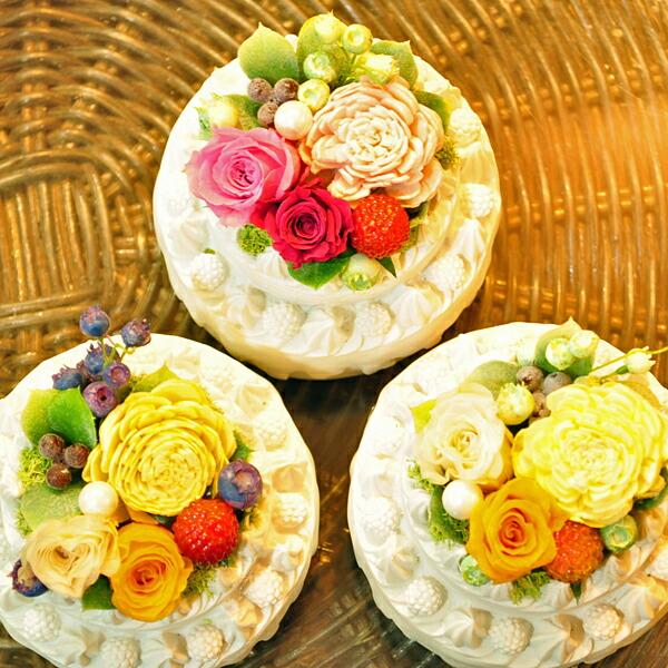【フラワーケーキ・ホール】プリザーブドフラワーのお店ムニュムニュ【Flower Munyu Munyu】